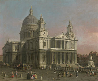 St. Paul's Cathedral Poster by Giovanni Antonio Canaletto