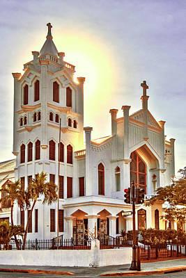 Poster featuring the photograph St. Paul's Episcopal Church - Key West by Bob Slitzan