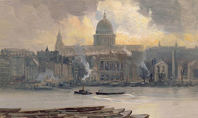 St Paul's From The River Poster by George Hyde Pownall