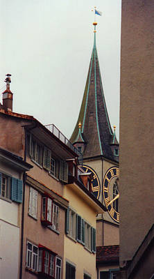 St. Peter Tower Zurich Switzerland Poster by Susanne Van Hulst