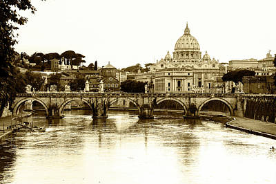 Poster featuring the photograph St. Peters Basilica by Mircea Costina Photography