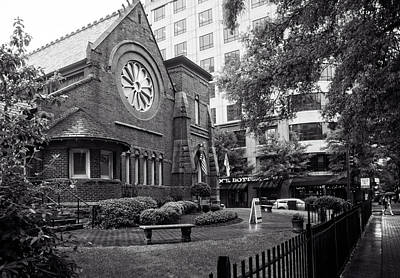 St. Peter's Episcopal Church In Black And White Poster