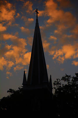 St. Peter's Roman Catholic Church In Harpers Ferry At Sunset Poster by Raymond Salani III