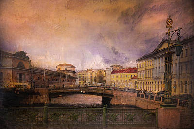 Poster featuring the photograph St Petersburg Canal by Jeff Burgess