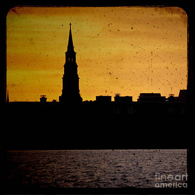 St Phillips Church Charleston Sc Sunset Poster