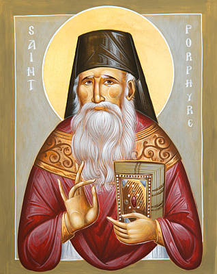 St Porphyrios Of Kavsokalyvia Poster by Julia Bridget Hayes
