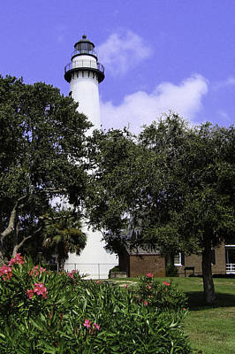 St Simons Isle Lighthouse Poster by Elizabeth Eldridge