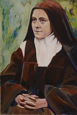 St. Therese Of Lisieux IIi Poster by Sheila Diemert