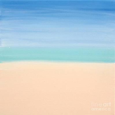 St Thomas #4 Seascape Landscape Original Fine Art Acrylic On Canvas Poster