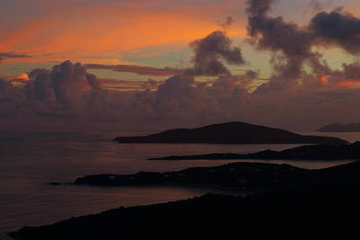 Poster featuring the photograph St Thomas Sunset At The U.s. Virgin Islands by Jetson Nguyen