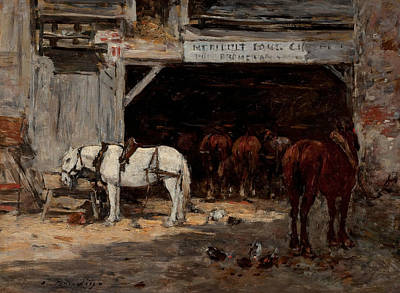 Stable Poster by Eugene Boudin