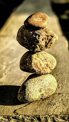 Poster featuring the photograph Stacked Rocks by Onyonet  Photo Studios