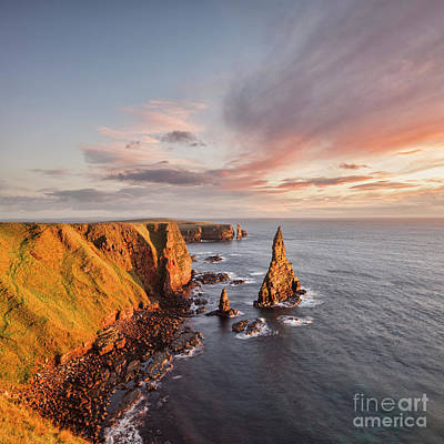 Stacks Of Duncansby Sunrise Poster