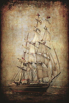Stad Amsterdam 3 Masted Clipper Poster by Daniel Hagerman