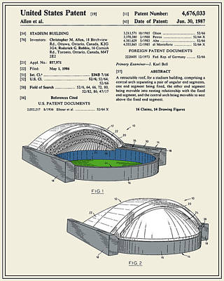 Stadium Patent Poster by Finlay McNevin