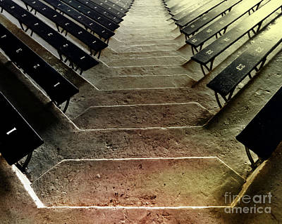 Stadium Steps At The Palestra Poster by Tom Gari Gallery-Three-Photography