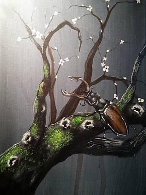 Stag Beetle Poster by Judit Szalanczi