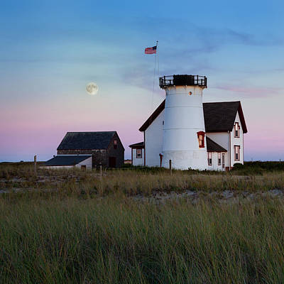 Stage Harbor Light Cape Cod Poster by Bill Wakeley