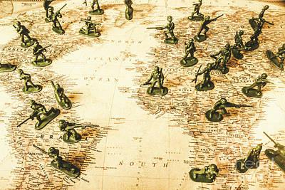 Staged World War Poster