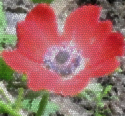 Poster featuring the photograph Stain Glass Anemone by Debra     Vatalaro