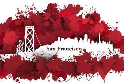 Stain San Francisco Skyline.1 Poster by Alberto RuiZ