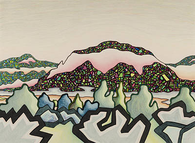Stainglass Desert #2 Poster
