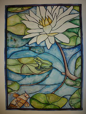Stained Glass Frog Poster