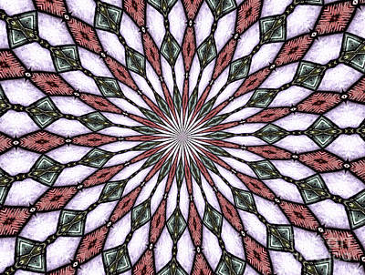Stained Glass Kaleidoscope 2 Poster by Rose Santuci-Sofranko