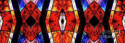 Stained Glass Panel Poster