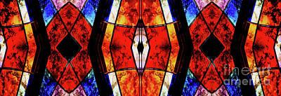 Stained Glass Panel Poster by Jolanta Anna Karolska