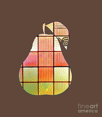 Stained Glass Pear Poster