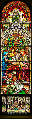 Poster featuring the photograph Stained Glass Scene 1 - 3 by Adam Jewell
