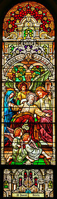 Poster featuring the photograph Stained Glass Scene 1 - 4 by Adam Jewell