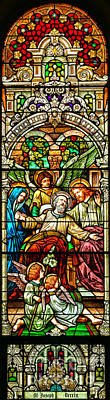 Poster featuring the photograph Stained Glass Scene 1 by Adam Jewell