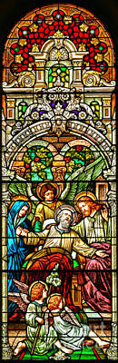 Poster featuring the photograph Stained Glass Scene 1 Crop by Adam Jewell