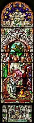 Poster featuring the photograph Stained Glass Scene 11 by Adam Jewell