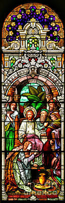 Poster featuring the photograph Stained Glass Scene 11 Crop by Adam Jewell