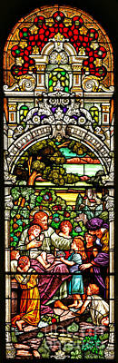 Poster featuring the photograph Stained Glass Scene 12 by Adam Jewell
