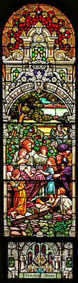 Poster featuring the photograph Stained Glass Scene 12 Crop by Adam Jewell