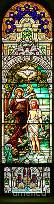 Poster featuring the photograph Stained Glass Scene 2 by Adam Jewell