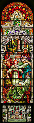 Poster featuring the photograph Stained Glass Scene 3 by Adam Jewell