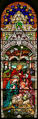 Poster featuring the photograph Stained Glass Scene 4 - 2 by Adam Jewell