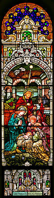 Poster featuring the photograph Stained Glass Scene 4 by Adam Jewell