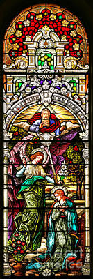 Poster featuring the photograph Stained Glass Scene 5 by Adam Jewell