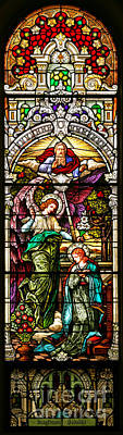 Poster featuring the photograph Stained Glass Scene 5 Crop by Adam Jewell