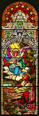 Poster featuring the photograph Stained Glass Scene 7 Crop by Adam Jewell