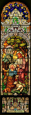 Poster featuring the photograph Stained Glass Scene 9 by Adam Jewell