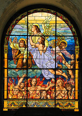 Poster featuring the photograph Stained Glass Window by Elizabeth Budd