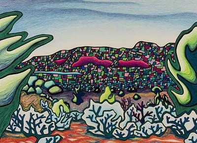 Stainglass Desert Poster
