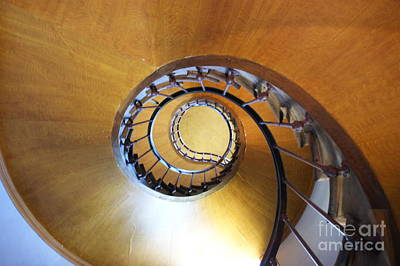 Staircase At Azay Le Rideau Poster